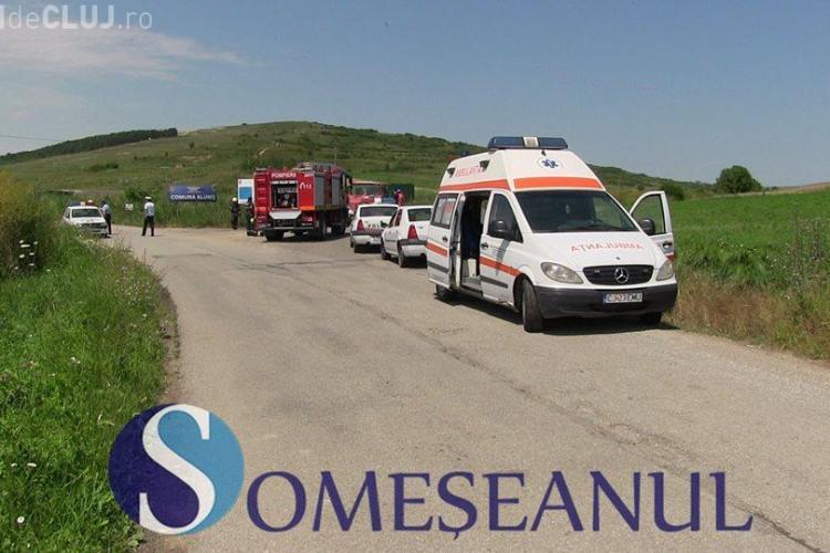 ACCIDENT CLUJ: Un șofer, beat la volan, a ajuns la spital după ce a intrat direct într-un cap de pod VIDEO