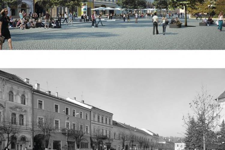 Proiect de modernizare pentru Piața Unirii din Cluj-Napoca. Vezi cum va arăta și ce se va modifica