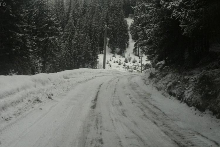 Va fi modernizat drumul spre pârtia de schi Buscat