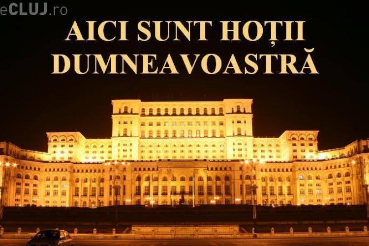 Protest la Cluj-Napoca, față de clasa politică