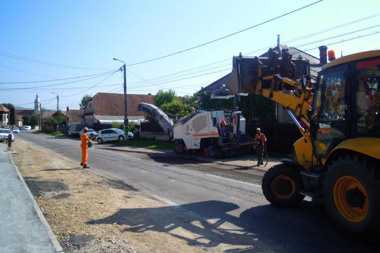 În Cluj, se lucrează pe 42 de km de drumuri județene - FOTO