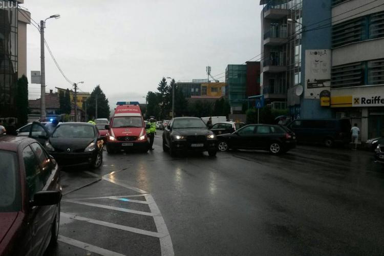 Accident în Gheorgheni, pe strada Constantin Brâncuși - FOTO