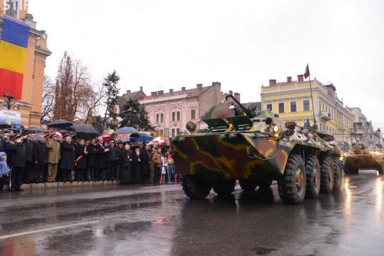 Paradă militară, miercuri, la Cluj-Napoca