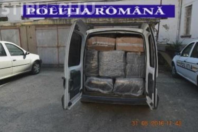 Captură uriașă de țigări de contrabandă la Cluj. Oamenii legii au confiscat 400.000 de țigări VIDEO