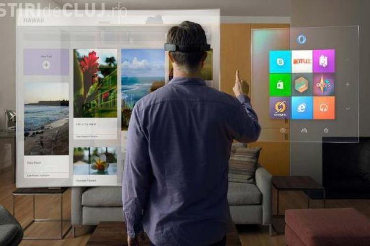 Microsoft a lansat pe piață un gadget SF. Cât cost HoloLens