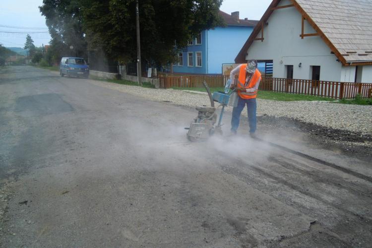Au început lucrările de reparație pe drumul judeţean DJ 109 Răscruci – Borşa – Vultureni - Aşchileu