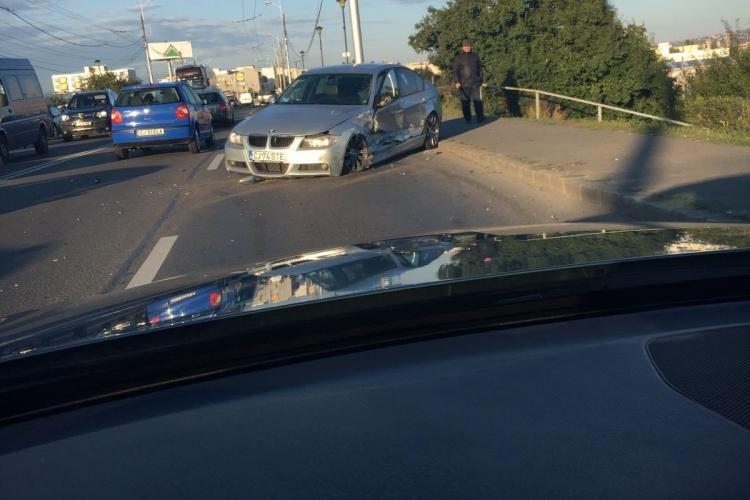 Accident la podul IRA între un BMW și un Audi - Galerie FOTO