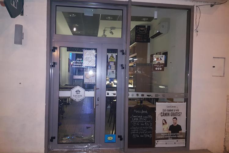 Hoț prins în flagrant la Cluj. A spart un magazin, dar a dat nas în nas cu firma de pază - FOTO cu spărgătorul