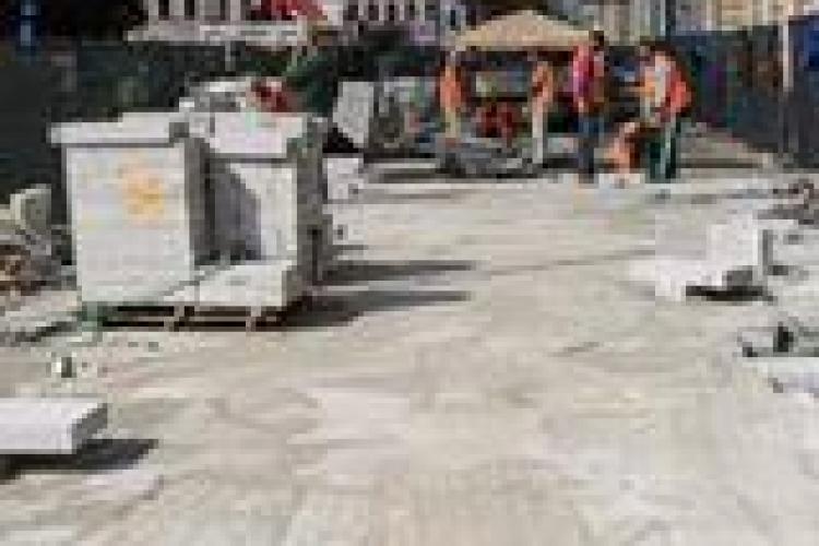 Lucrările de modernizare din Piața Unirii sunt în toi. Cum arată și care sunt termenele de finalizare FOTO