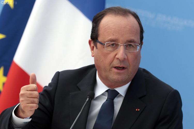 Președintele francez François Holland a fost primit de Klaus Iohannis la Cotroceni