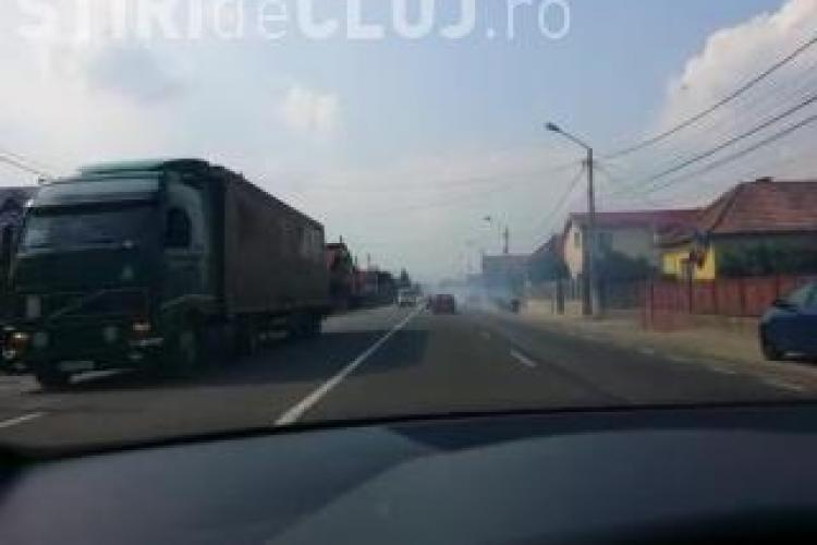 Florești - A văzut un nor de fum pe șosea și a crezut că era un INCENDIU! Realitatea e alta - VIDEO