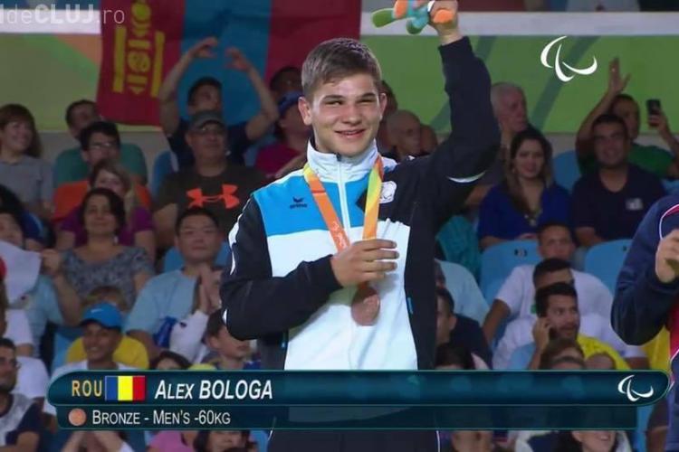 Sportivul paralimpic clujean Alexandru Bologa, medialiat cu bronz la Rio, va fi premiat