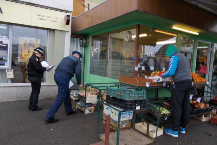 Apoape 1000 de kg de legume şi fructe, confiscate în Mănăștur