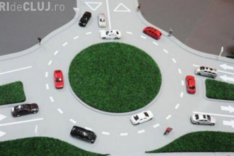 Cluj-Napoca: Amenajare sens giratoriu pe strada Maramureșului