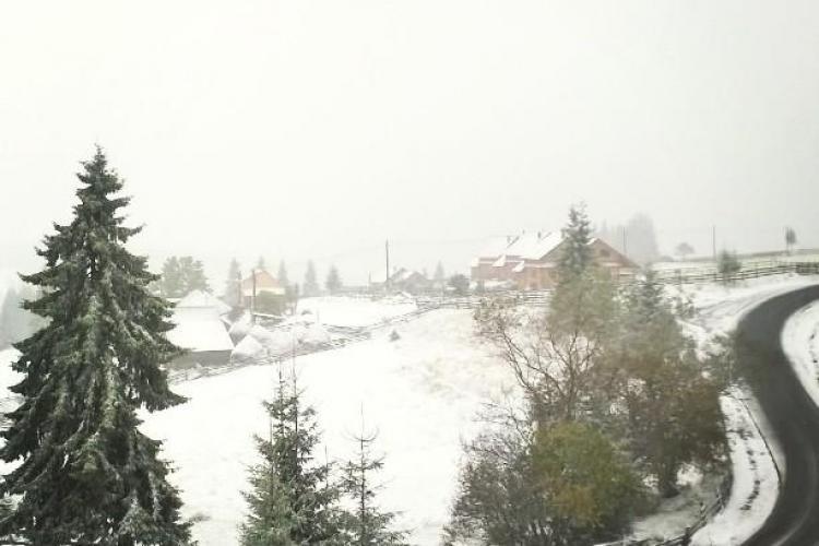 La Cluj a nins în zona de munte - FOTO