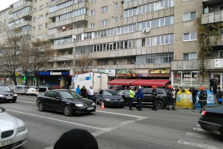 Accident în Mănăștur, în fața magazinului BIG - FOTO