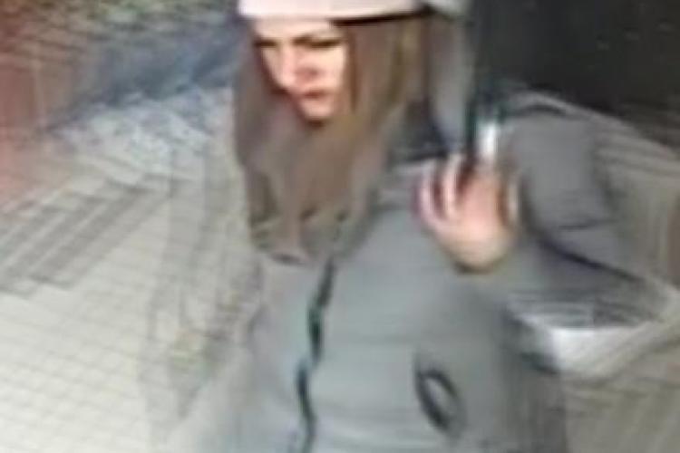 Hoață căutată de polițiștii clujeni după ce a furat două portofele. O recunoașteți? VIDEO