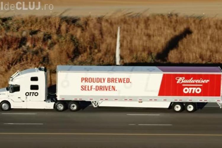 VIDEO - Cum arată primul camion care se conduce singur. E produs de o companie UBER