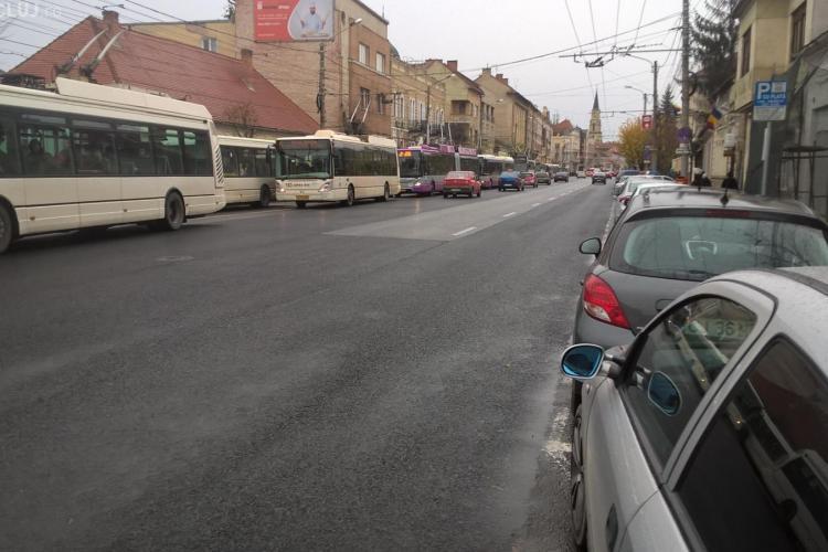 Cluj-Napoca: Dosar penal pentru un șofer care a blocat traficul pe B-dul 21 Decembrie și strada Paris