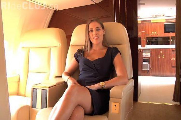 Cum arată avionul privat al lui Donald Trump. Până și centurile de siguranță sunt placate cu aur VIDEO