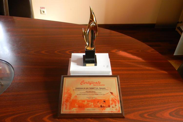 Compania de Apă SOMEȘ, recunoscută internațional. Ce distincție prestigioasă a primit