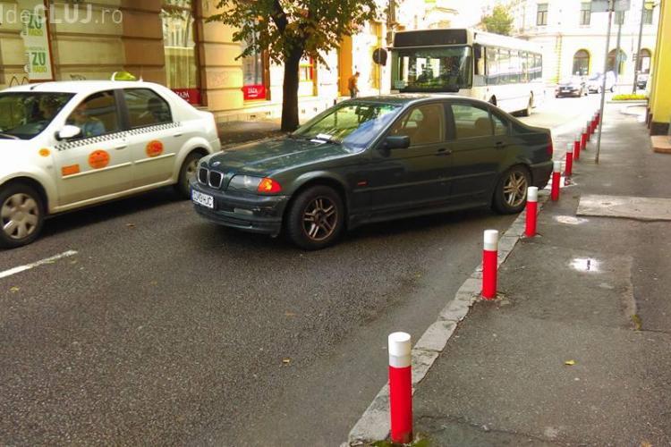 Parcarea lunii la Cluj-Napoca! Șoferul a fost amendat - FOTO
