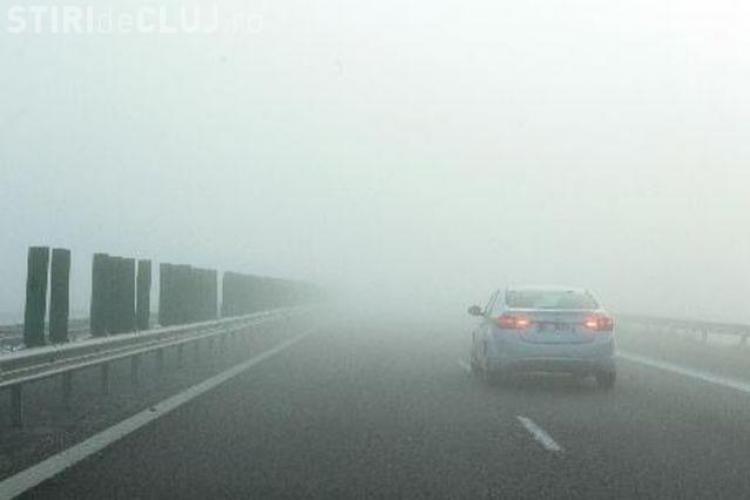 Autostrada Transilvania a fost afectată, sâmbătă dimineața, de CEAȚĂ. Alertă INFO TRAFIC