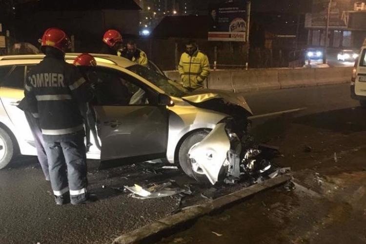 Accident lângă Lidl, pe Varianta Zorilor Mănăștur. Al doilea accident a avut loc pe sensul de coborâre - FOTO