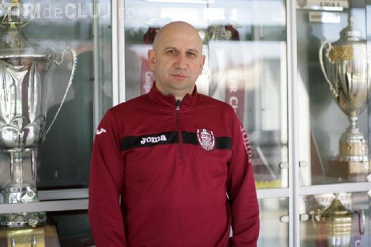 CFR Cluj a rămas fără antrenor pentru două meciuri. FRF l-a suspendat pe Miriuță