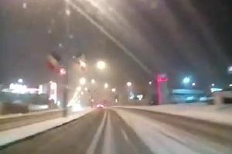 Ninsoare de Crăciun la Cluj! Cum s-a circulat și ce a făcut acest șofer - VIDEO