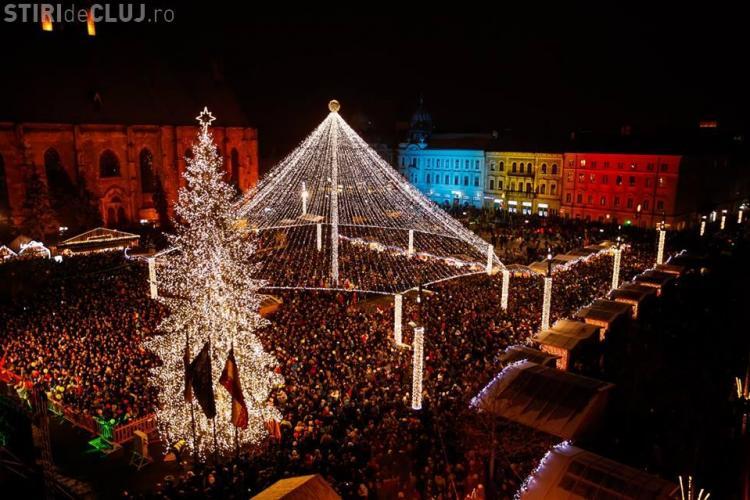 S-au aprins luminile festive la Cluj. Vezi cum arată FOTO/VIDEO