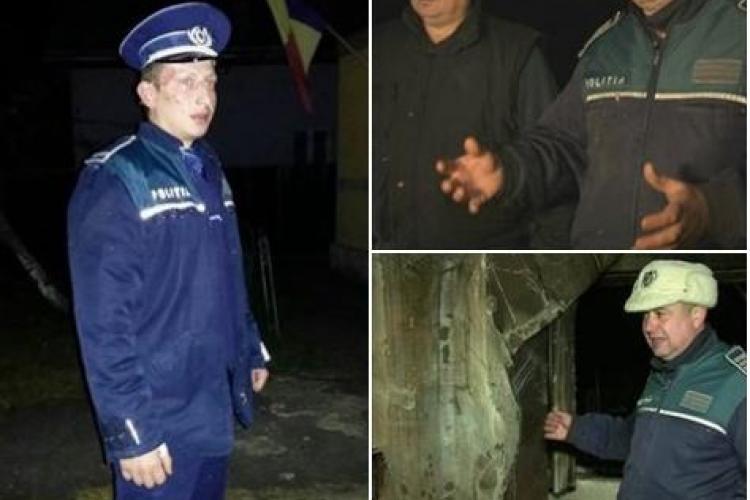 Trei polițiști au devenit eroi peste noapte! Și-au riscat viața pentru a salva trei persoane de la moarte FOTO