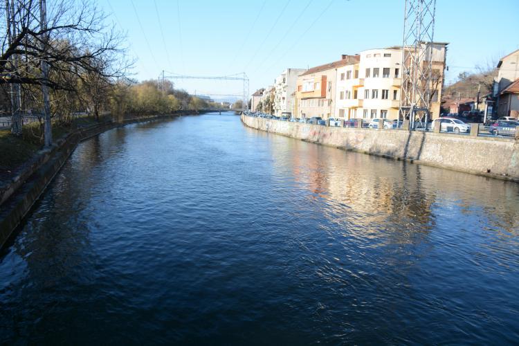 Operațiuni de curățare intensivă a râului Someș, la Cluj. S-au strâns sute de tone de vegetație până acum FOTO