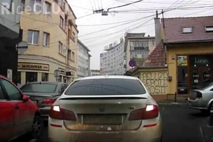 Cluj: Dacă ai BMW faci ce vrei - VIDEO
