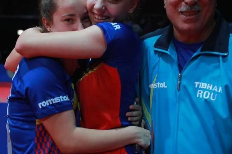 Aur pentru România la Mondialul de tenis de masă. Dublul Adina Diaconu și Andreea Dragoman a învins în finală