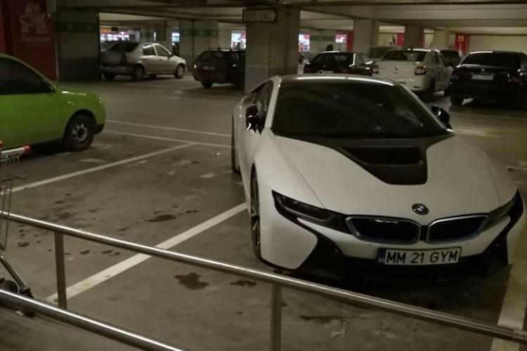Cluj - Șoferul acestui BMW i8 a parcat în bătaie de joc. Ce scuze invocă - FOTO