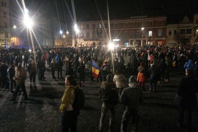 UPDATE Număr record de manifestanți la Cluj! 45.000 de persoane participă la manifestații  FOTO/VIDEO
