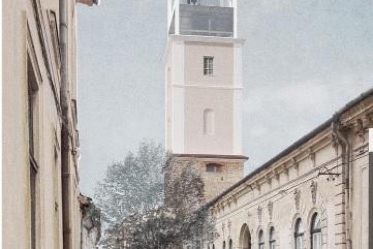 Cum va arăta Turnul Pompierilor din Cluj! Proiect ambițios propus de un grup de arhitecți - FOTO