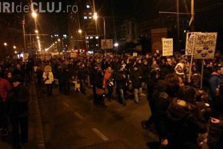 Cluj: Relatare emoționantă pentru protestatari
