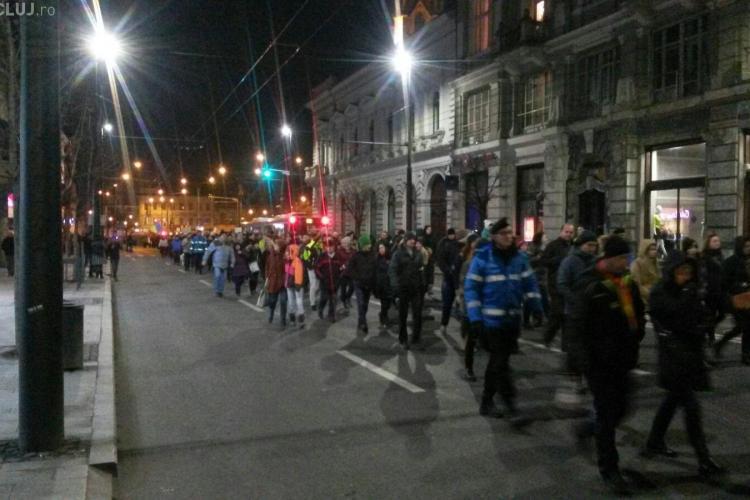 Ziua 12 de proteste la Cluj! Aproximativ 4.000 de persoane au ieșit în stradă FOTO