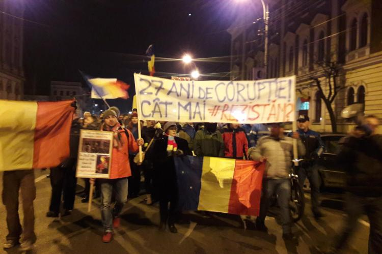 Nou protest la Cluj, luni seară: Continuăm cu protestele așa cum ați decis cu toții