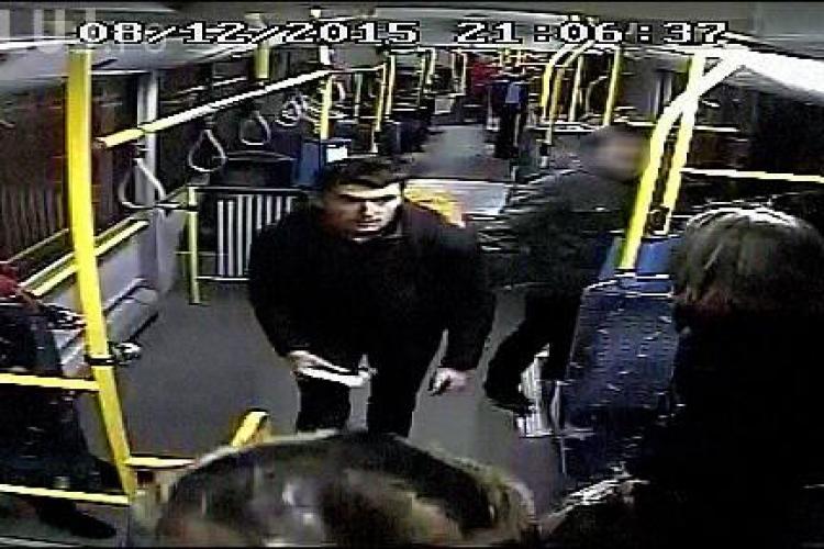 Cluj: Un șmecheraș fără bilet i-a atacat pe controlori cu un spray paralizant. Cine îl recunoaște - FOTO