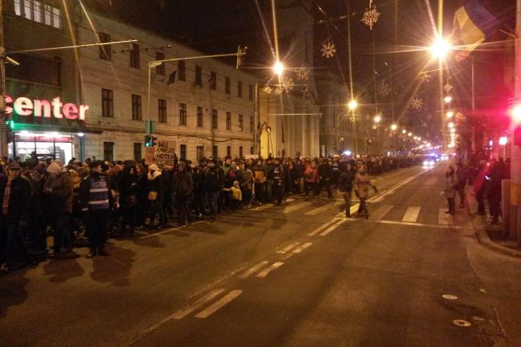 7.000 de clujeni au ieșit în stradă împotriva grațierii - VIDEO