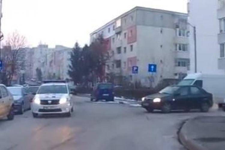 La Cluj și Poliția circulă pe interzis VIDEO