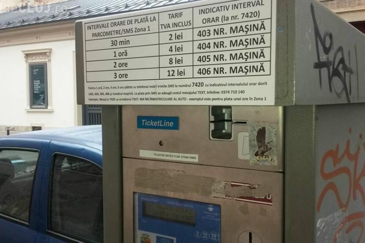 Cluj: Poliția locală amendează șoferii parcați fără tichet, dar plata parcării se face foarte greu