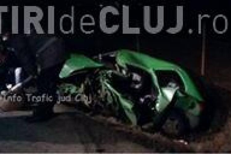 Accident grav pe drumul Cluj-Apahida. O șoferiță a fost grav rănită FOTO