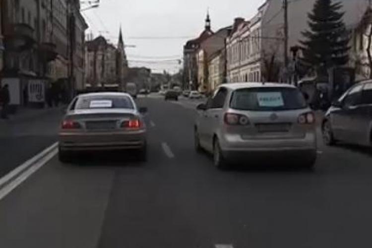 Cluj-Napoca / VIDEO: O stradă din oraș, BLOCATĂ în semn de nesupunere civică