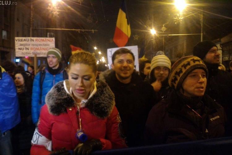 Protest la Cluj și miercuri seara. 3.000 de oameni în stradă - FOTO