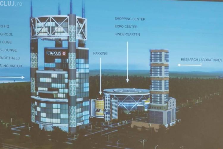 Clujul a primit un teren de 86.000 de mp pentru a construi parcul științific TETAPOLIS