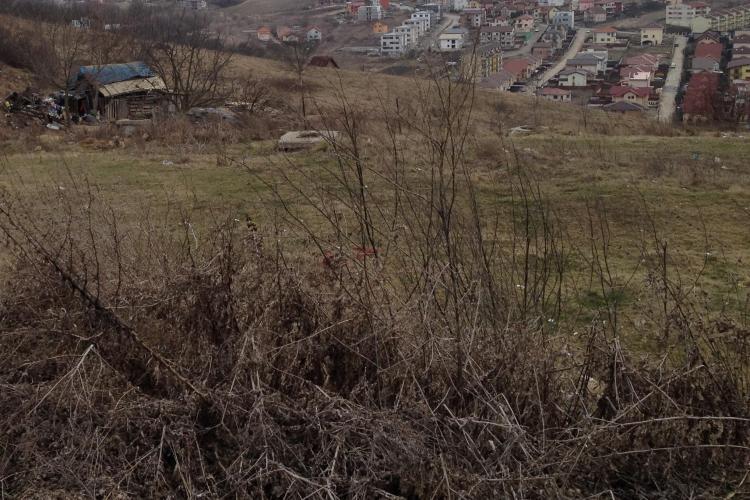 Barăci construite ilegal de rromi în zona variantei Mănăștur-Zorilor: Împânzesc zona de gunoaie FOTO